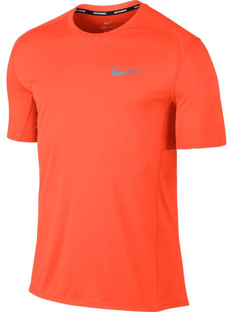 Nike Dry Miler SS Running Top Men hyper crimson/hyper crimson
